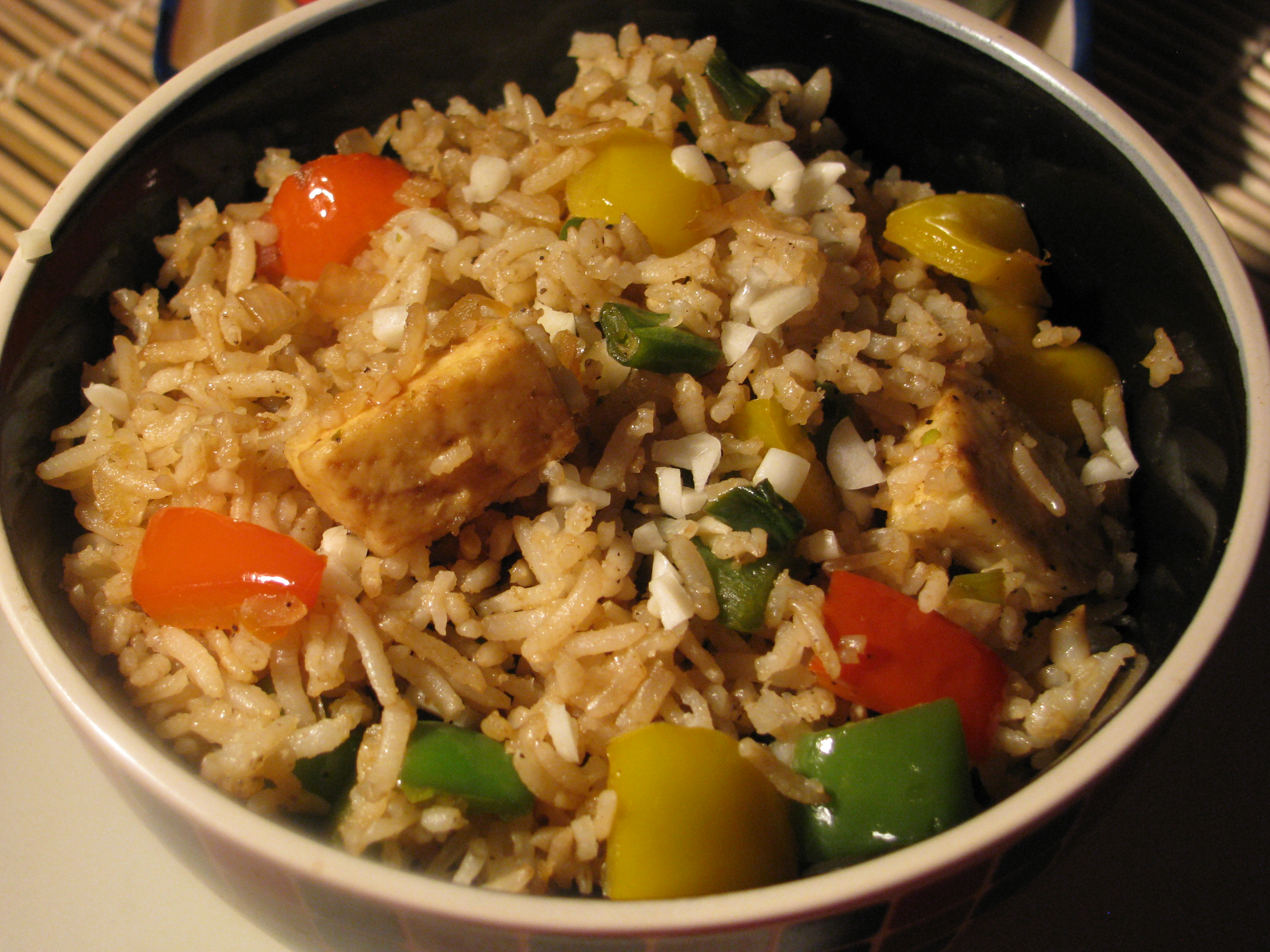 Fried Brown Rice Recipe | How to make Fried Rice from Brown Rice and ...